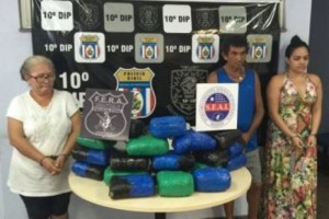 Com Maxine, foram presos Clóvis Jacó Serrão de Lima, 57, Francisca Socorro Tavares, 53, e apreendido um adolescente de 16 anos de idade