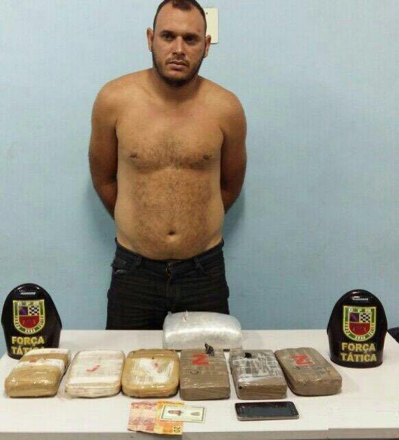 Traficante de Maraã é preso com 7 kg de drogas em Manaus