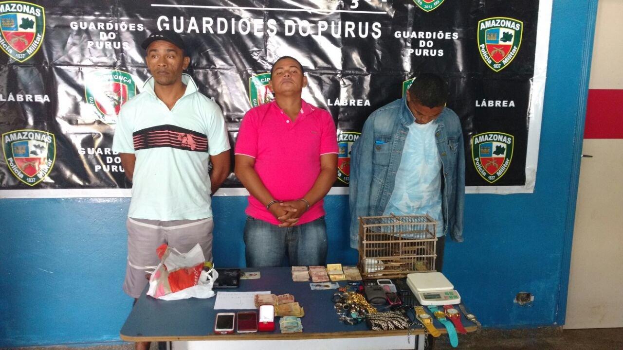 """Traficantes são presos durante """"Operação Mineirinho"""" no interior do AM"""