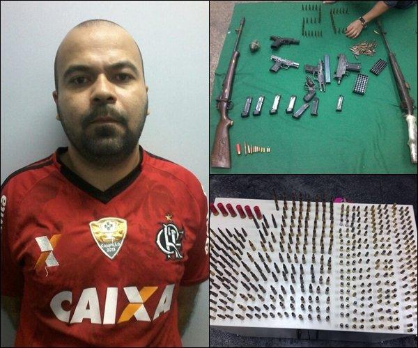 Homem é preso com arsenal de armas e munições em Manaus