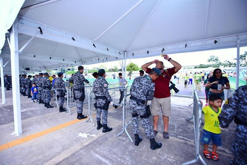 Operação de segurança garante Primeiro dia de Olimpíadas tranquilo em Manaus