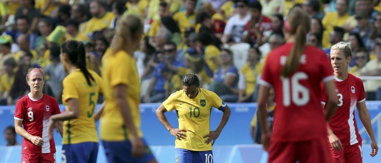 A seleção feminina de futebol tentou, mas terminou os Jogos do Rio-2016 sem medalha