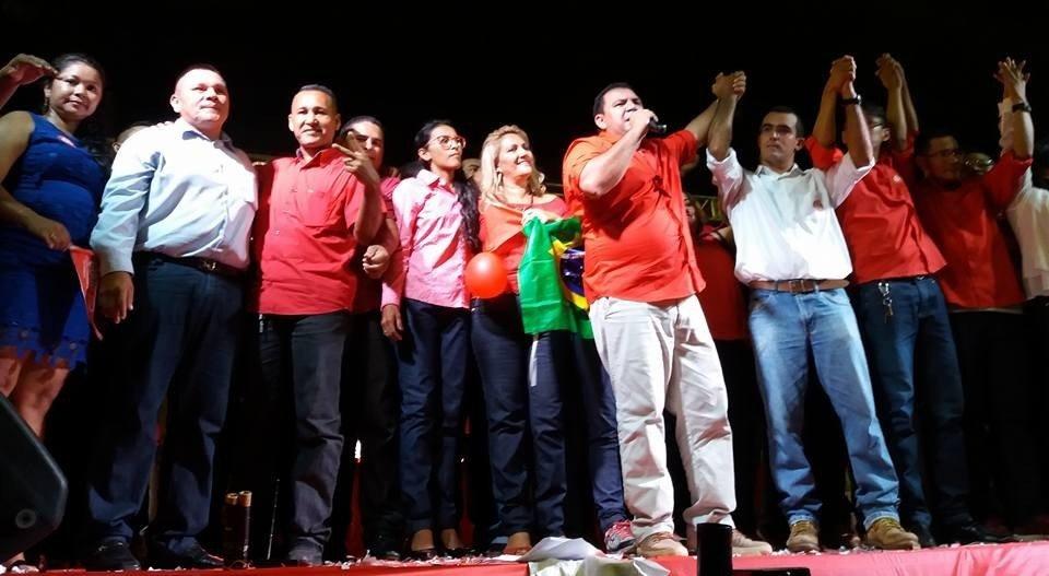 Pe. Carlos Góes anuncia seu candidato a vice durante convenção do PT em Maués