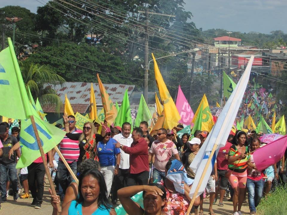 Convenção lança candidaturas de Iracema Maia e Kelly Eduardo, reunindo mais de 5 mil pessoas em Benjamin Constant