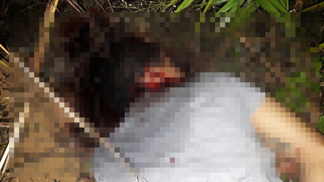 IMAGENS FORTES: Corpo é encontrado com pés e mãos amarrados na entrada da Praia Dourada
