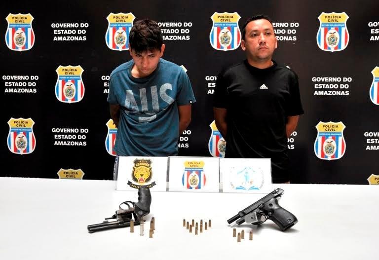 """Equipe """"Guardião"""" prende dupla por porte ilegal de arma de fogo e envolvimento com o tráfico de drogas"""