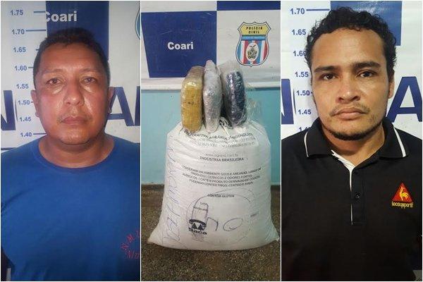 Ação conjunta resulta na prisão de comandante de embarcação e conferente por tráfico de drogas em Coari
