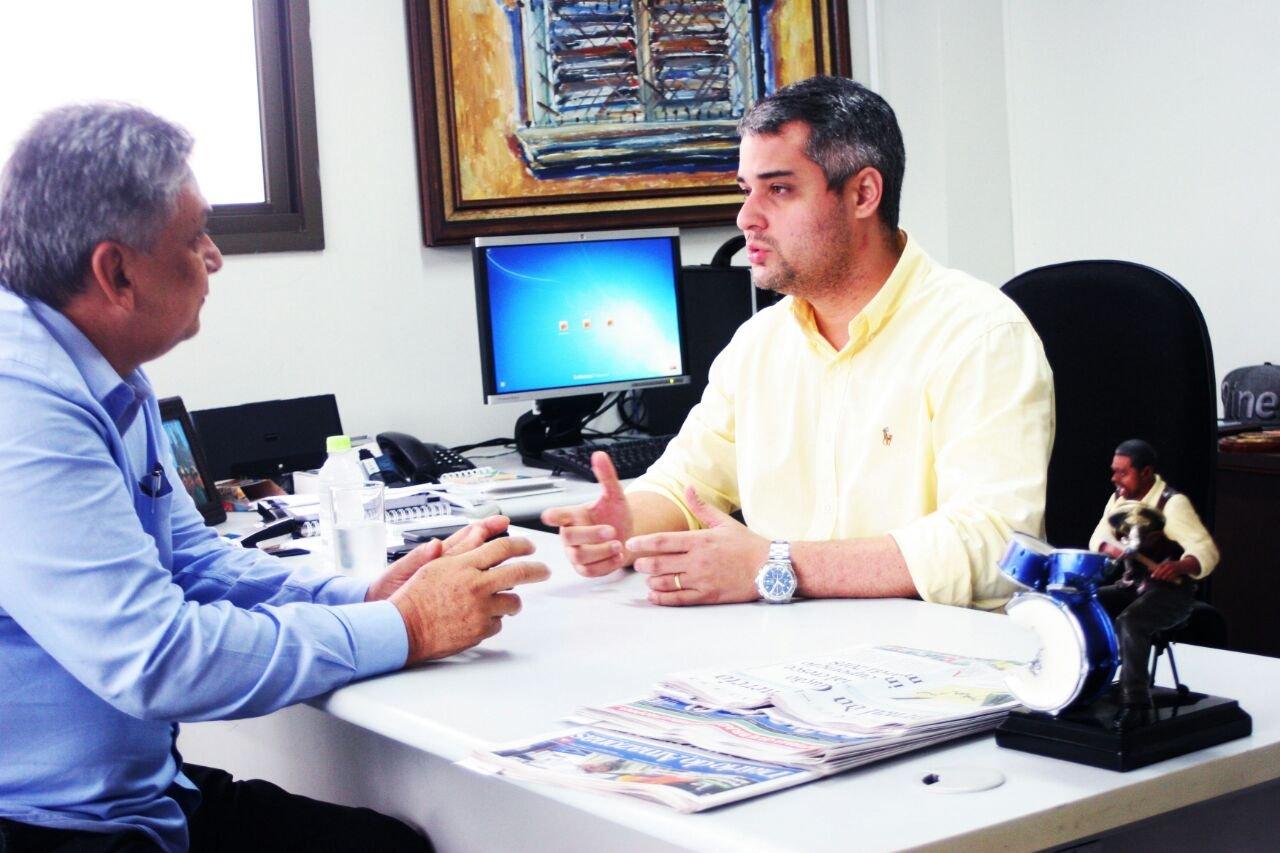 Vereador Fred Mota conforma apoio a Lei Municipal de Incentivo a Cultura, durante reunião com presidente da Manauscult