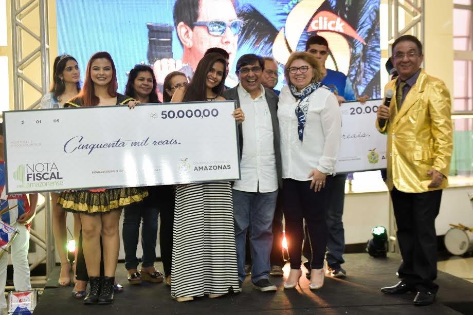 Maioria dos prêmios da campanha Nota Fiscal Amazonense sai para notas de até R$ 50