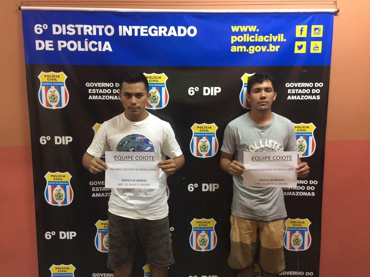 Filhos de vereador do interior do Estado, são presos por tráfico de drogas em Manaus
