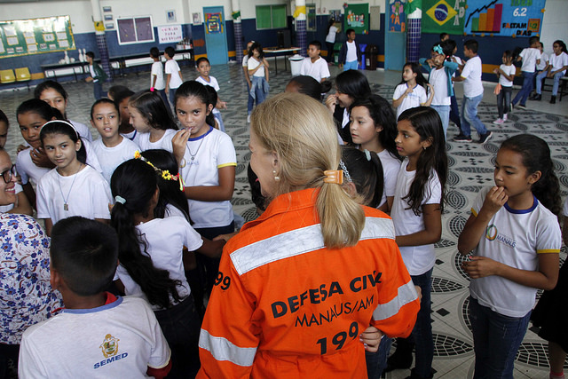 """Projeto """"Defesa Civil na Escola"""" inicia atividades na zona leste de Manaus"""