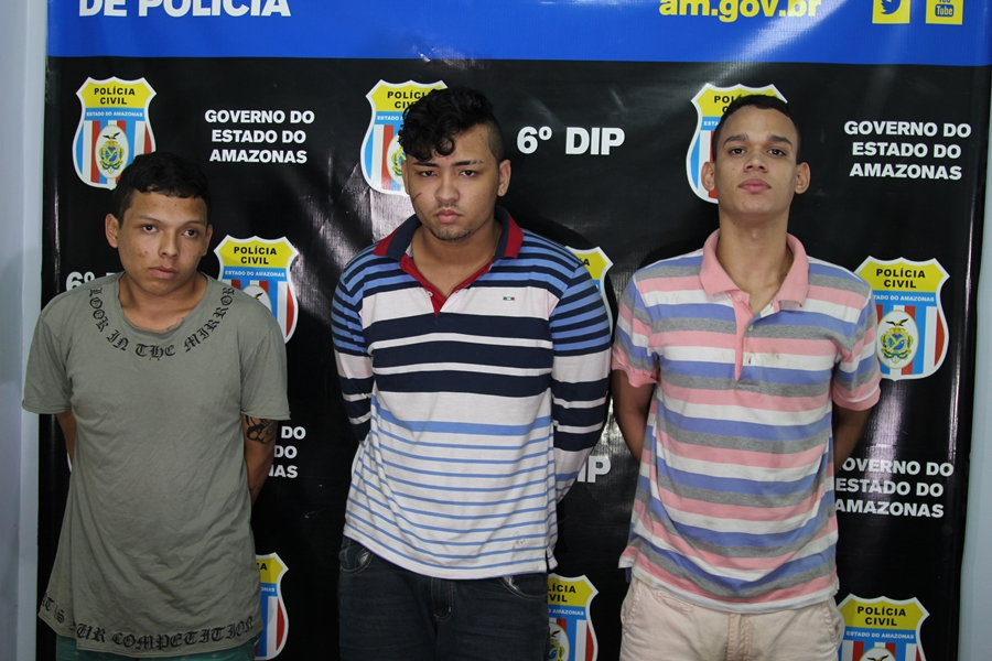 Polícia prende trio envolvido em roubos na zona norte