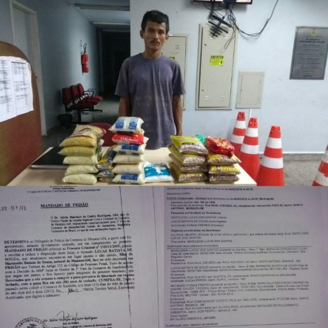 Homem com mandado de prisão por estupro é detido após furto em lanchonete na zona oeste de Manaus