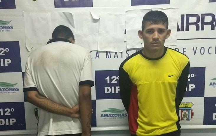 Dois homens são presos pela polícia no Lírio do Vale, pós roubarem carro no Morada do Sol em Manaus
