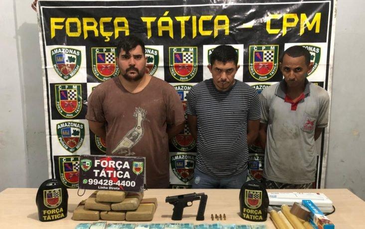Homens são presos com arma, drogas e R$50 mil na Cidade Nova