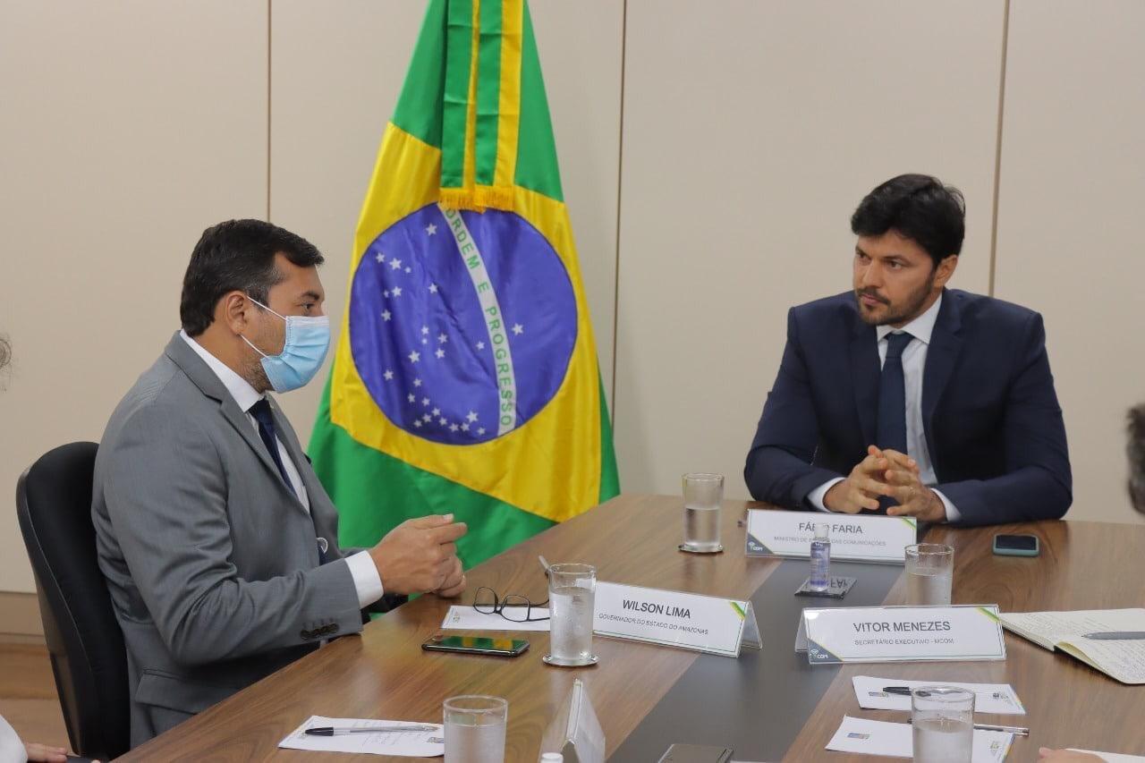 Em Brasília, Wilson Lima discute projetos para garantir acesso à internet no interior do Amazonas