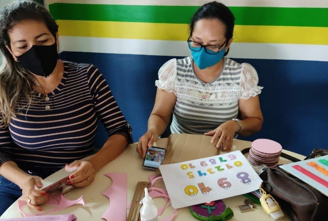 Professoras de Benjamin Constant produzem jogos lúdicos para auxiliar na aprendizagem de alunos com deficiência
