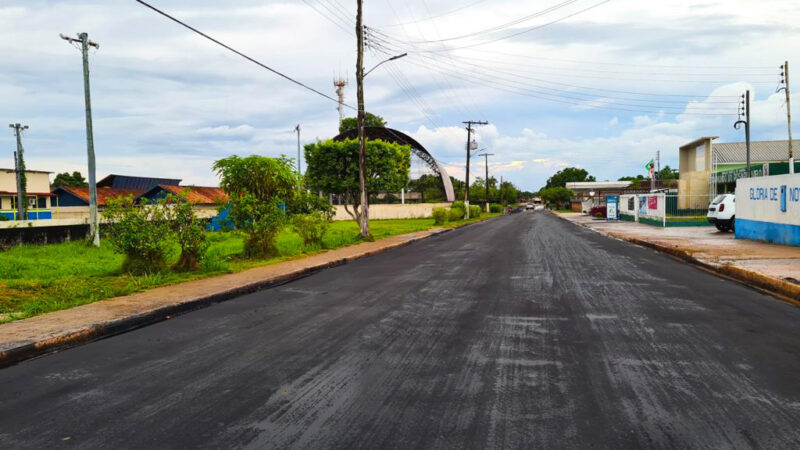 Governo do Amazonas conclui obra de reconstrução do sistema viário de Nova Olinda do Norte