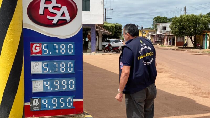 Procon-AM notifica 29 postos de gasolina em Itacoatiara, Itapiranga e Silves