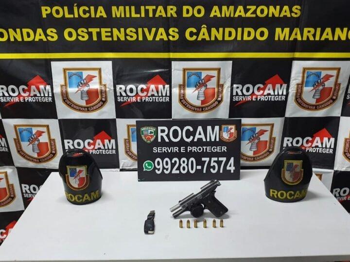 Rocam detém jovem com de arma de fogo no Centro da capital
