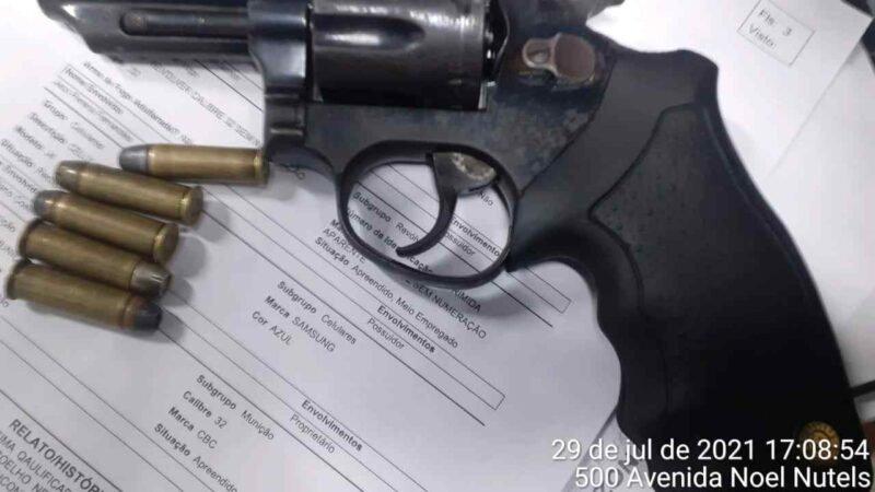 PMAM detém trio por roubo e porte ilegal de arma de fogo, no bairro Monte das Oliveiras