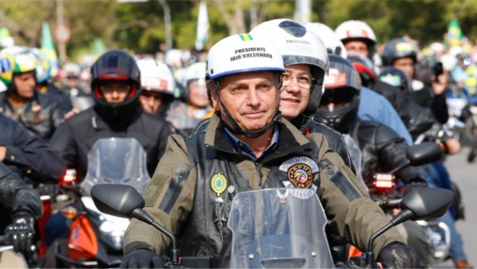 Detalhes da motociata de Bolsonaro em Manaus