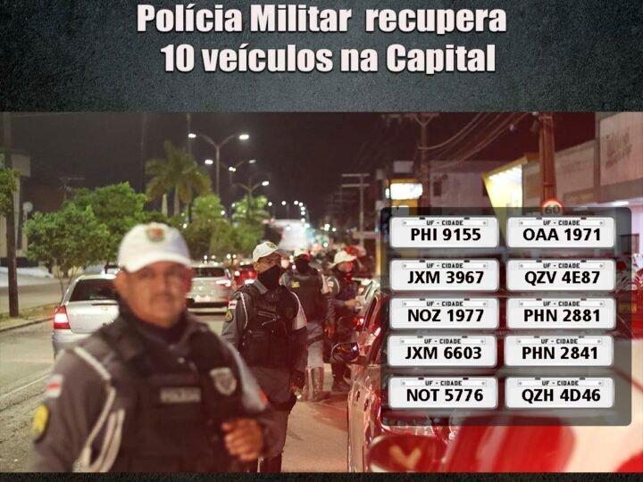 PMAM recupera 10 veículos roubados na capital amazonense