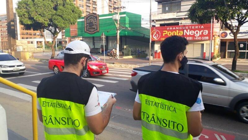 Prefeitura de Manaus realiza pesquisa sobre fluidez de trânsito na Ponta Negra
