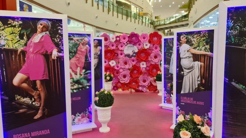 Exposição no Manauara Shopping revela força de mulheres na luta contra o câncer