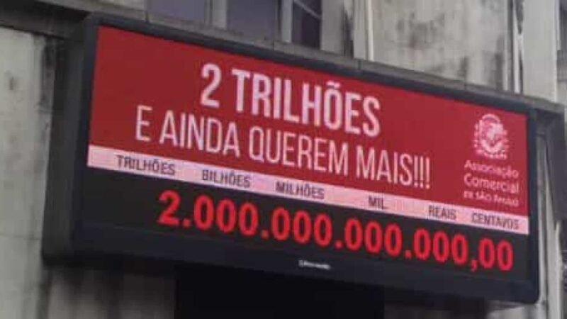 Impostômetro chega à marca de R$ 2 trilhões, informa associação de SP.