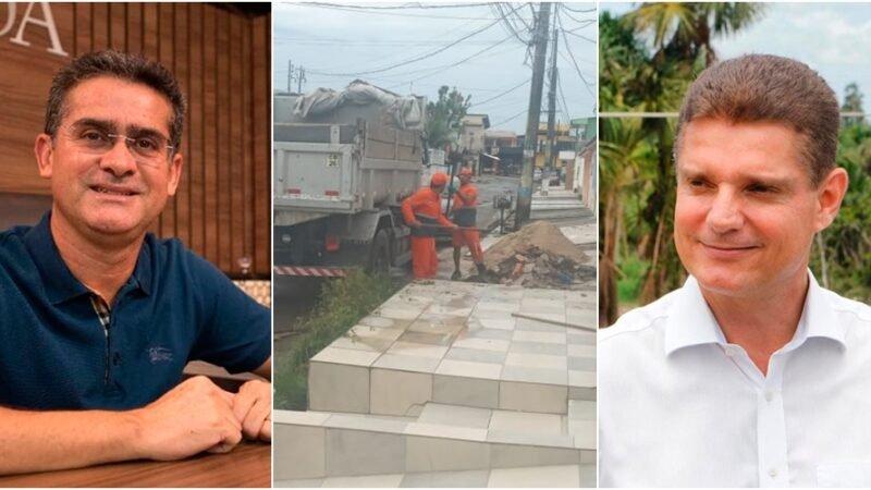Em Manaus, prefeitura deixa ruas abandonadas, enquanto atende residência para tirar entulhos.